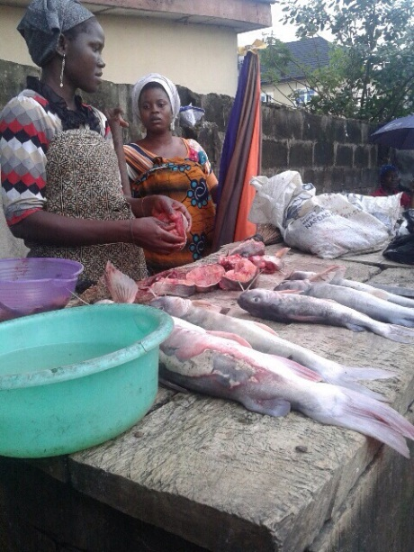 Fish sellers- Isheri Market, Lagos