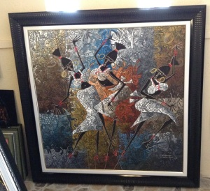 A beautifully framed piece celebrating african women