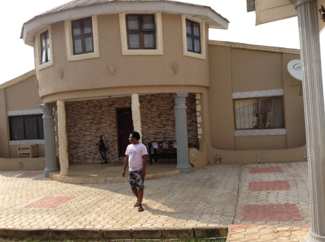 Gbolade Omidiran`s beautiful home where I spent a wonderful few hours.