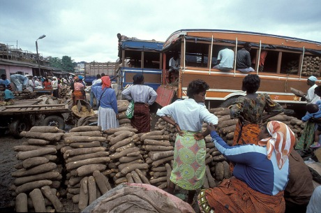 Traders at the Aflao border