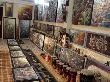 A cross section of Gbolade`s gallery- filled with awesome art