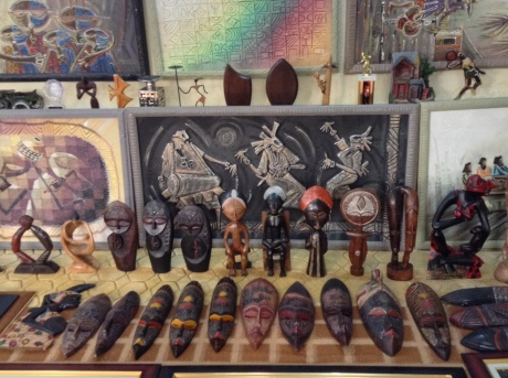 Apart from his own original paintings, Gbolade`s gallery is teeming with many pieces of African art personally picked out to showcase the depth of local talent available. These include: amazing sculptures in fine wood, pottery and metal work.