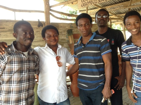 Gbolade Omidiran and his students- like one big family.