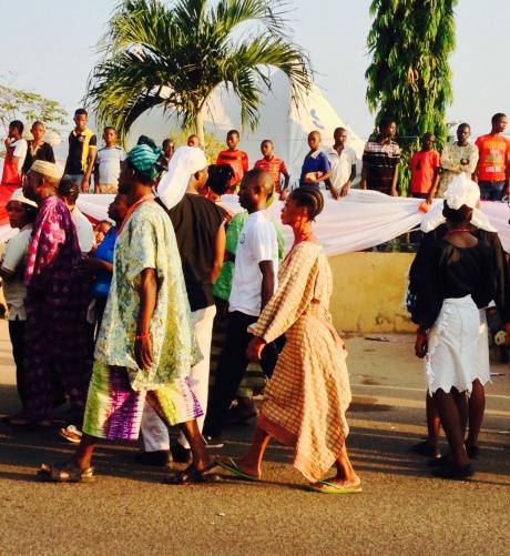 A cross section of Ife celebrants at the Olojo Festival