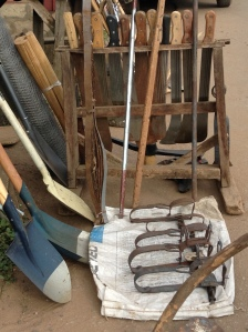 Iron implemets used by  traditional artisans in Ile-Ife