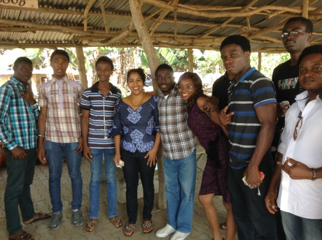 With Gbolade and his students at the end of a fabulous day.