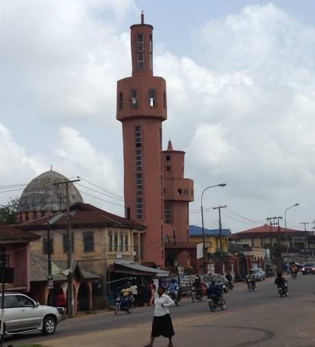 The Ife central mosque as Enuwa Square was built in