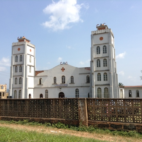 Looming magnificently, is the C.A.C church at Moore in Ile-Ife. It is a beautiful sight which really