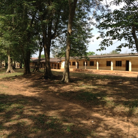 The teaching blocks of Ife Girls High School, Eleyele- the greenery is very much a feature of the aura of this place.