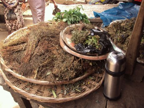 Everything you need for your herbal remedies in this stall selling barks, roots and much more.