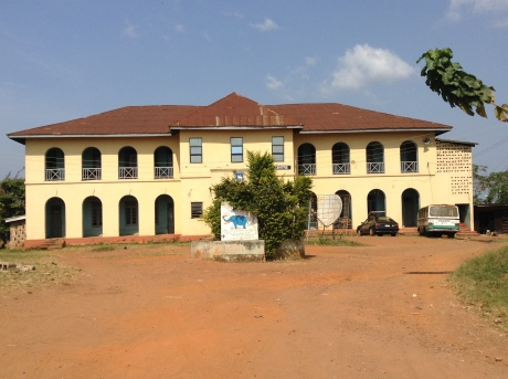 The main administrative block of one of the oldest secondary schools in Ile- Ife- Oduduwa College at Sabo